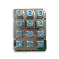 Quality Zinc Alloy Rugged Blue Backlight  12 keys Keypad with 9 Pin for sale