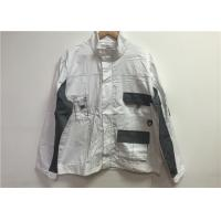 Quality Unisex White Custom Working Clothes , Safety Work Clothing For Airport Workers for sale