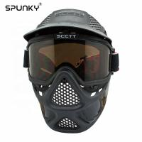 Quality Durable Paintball Tactical Full Face Mask With Double Lens Goggles for sale