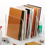 Quality Plexiglass Acrylic Brochure Holders OEM Design Acrylic Book Case Silk Screen Printing for sale