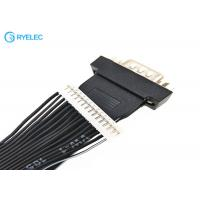 Quality Black HDB15 Male Ends 15 Conductor Ribbon Cable Assemblies With 15 Pin Ph2.0 Plugs for sale