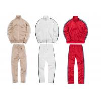 Quality Custom Striped Breathable Mens Sports Tracksuits With Mountaineering Jackets for sale