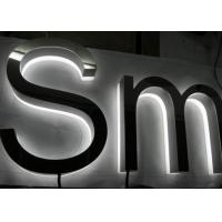 Quality Custom 3D LED Backlit Sign Letters Lighted Business Signs Signboard Waterproof for sale