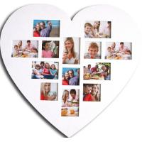China heart shaped photo frame love photo frame wholesale wood photo frame multi photo frame on sale