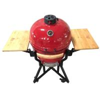 China lava stone elegant smoker 24 inch kamado grill wood bbq outdoor egg shape ceramic bbq grill on sale