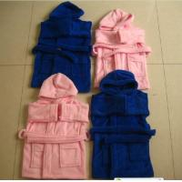 Quality Cotton Velour Solid Color Bathrobes Towels for Kids (BR-12) for sale
