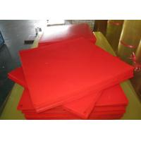 Quality Bendable Virgin Polyurethane Plastic Sheets For Paper Making , Red PU Sheets for sale