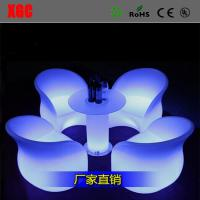 Buy cheap Hot Selling Quincunx Dinner Chair Patio plastic Back Rest Chiar LED Plastic Chair from wholesalers