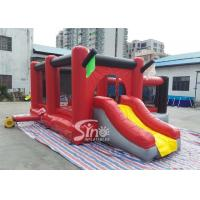 Quality Commercial outdoor kids red combos with slide for amusement park from Sino factory for sale