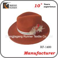China cheap fedora hats for men with feathers on sale
