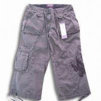 Quality Men's Short with Embroidery, Enzyme Wash for sale