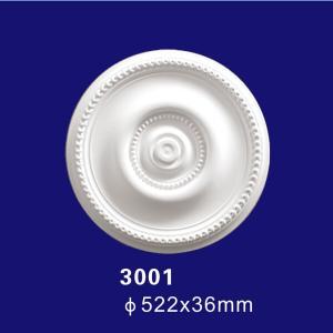 Quality 3001 Factory Price Elegant Modern Foam Ceiling Design Medallion for sale