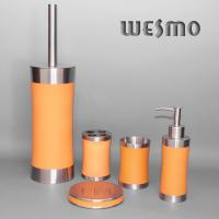 Quality Rubber Oil Painted Stainless Steel Bathroom sets for sale