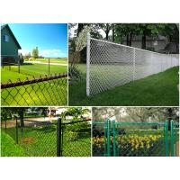 Quality ASTM 392 heavily galvanized chain link fence with accessories zinc mass 366g for sale