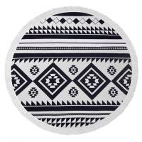 Buy cheap Bohemian Style Round Beach Towel , 100% Cotton Terry Velour Round Towel product