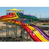 Quality Colorful High Speed Slide Water Play Equipment 5 - 13 M Platform Height 0.85M Width for sale