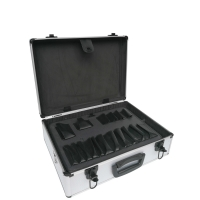 Quality Alu tool box silver aluminum carry case with tool board interior black locks tool carrying boxes for sale