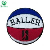 Quality Durable Basketball Chenille Sports Patches For Letterman Jackets Soft Edge for sale