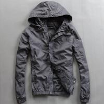 Quality Lightweight Nylon Waterproof Men'S Windbreaker Jacket Black Or Custom Color for sale