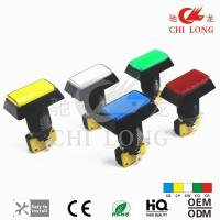 China Kids Playing Machine Rectangle Arcade Buttons , Rgb Led Push Button on sale