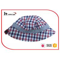 Buy cheap Reversible Fishing Bucket Hat , Check And Herringbone Fisherman Hat With Button product