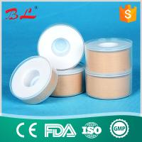 Zinc oxide plaster with transparent cover in skin color and white color