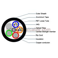Quality Outdoor 12 Core Armoured Fiber Optic Cable GDTA Optical Power Composite Cable for sale