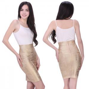China Soft fabric bronzing multi color one piece bandage dress mini skirt on sale