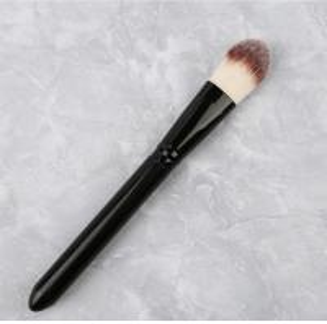 Single Liquid Foundation Brush Black Handle Color OEM / ODM Accepted