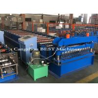 Quality Cold Steel Automatic Roll Forming Machine For Corrugated Roofing Panel PLC Control for sale