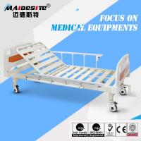 Quality Single Crank One Function Manual Hospital Patient Bed , Manual Adjustable Bed for sale