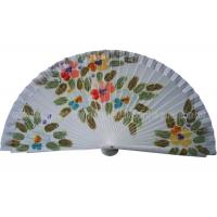 Quality Hand Drawn Patterns Wooden Hand Fan For Gift , Souvenirs , Holiday Parties Esthetical for sale