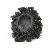 OEM Short Black Deep Wave Synthetic Pony Tail Wigs for Ladies