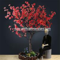Red Flower Branches Artificial Blossom Tree For Shopping Mall 5 Years Life Time for sale