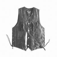 China Patch Leather Vest/Geniune Leather Patchwork Vest for Wholesale on sale