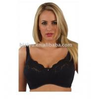 Buy cheap Black 60% Nylon 15% Spandex Customized Sexy Padded Plus Size Convertible Bra With OEM ODM product