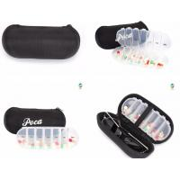 Quality new style 7case plastic pill box with glasses box, one week 28 compartment with biger box plastic pill holder, Pop up pl for sale