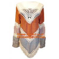 Buy cheap Brazilian Blouse Women Hollow Out Loose Beach Crochet Bikini Blouses Long Sleeve from wholesalers