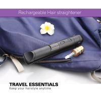 Quality Portable Small Size Safe Battery Operated Hair Straightener , Travel Flat Iron for sale