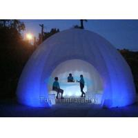Quality Outdoor LED Inflatable Photo Booth White Display Stand For Exhibition for sale