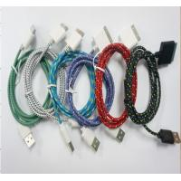China braided rope mobile phone usb data cable , mobile phone data line on sale