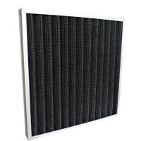Quality Activated Carbon Pleated Panel Air Purifier Filter Replacement With Aluminum Frame Black Color for sale