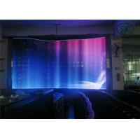 Quality Flexible Advertising LED Screens DIP RGB , Led Curtain Display for sale