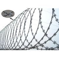 China Anti Corrosion Razor Blade Barbed Wire BTO- 22 For Construction Fencing on sale