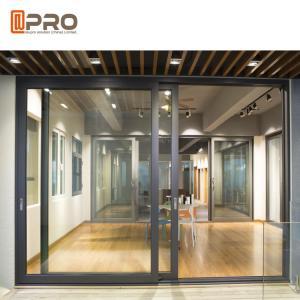 China Sound Proof Aluminium Sliding Glass Doors For Residential And Commercial sliding door frame Sliding frameless shower on sale