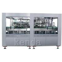 China 1L Glass Bottle Wine Filling Machine With Cork Capping Straight Liner Machine on sale
