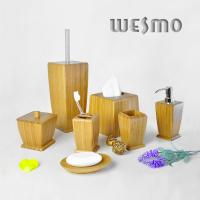 Quality 7 Piece Smooth and Anti Water Natural Bamboo Bathroom Sets for sale