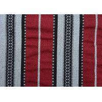 Quality Home Textile Sadu Black And White Striped Upholstery Fabric 270GSM for sale