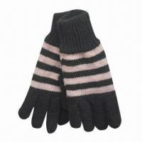 Quality Women's and Children's Knitted Gloves, Made of 100% Acrylic for sale