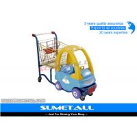 China Customized Funny Supermarket Shopping Trolley With Kids Play Plastic Cab on sale